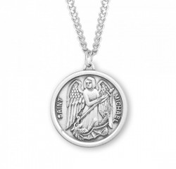 Men's Plain Round St. Michael Medal [HMM3029]