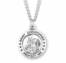 Men's Protect Me St. Christopher Necklace [HMM3396]