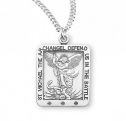 Rectangular Defend Us In Battle St Michael Medal [HMM3026]