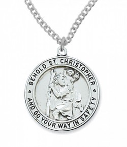 Men's Round St. Christopher Medal [MVM1017]