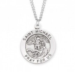 Men's Round St. Michael Archangel Medal [HMM3034]