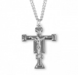 Men's San Damiano Style Crucifix Medal [RECRX1017]