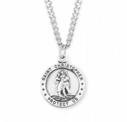 Men's Simple St Christopher Necklace [HMM3442]