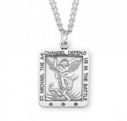Men's Square Saint Michael Medal [HMM3027]