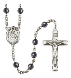 Men's St. Ambrose Silver Plated Rosary [RBENM8137]