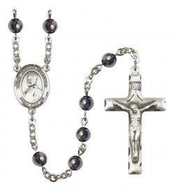 Men's St. Andre Bessette Silver Plated Rosary [RBENM8424]