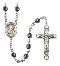 Men's St. Apollonia Silver Plated Rosary [RBENM8005]