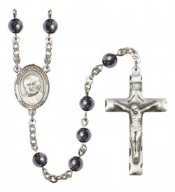 Men's St. Arnold Janssen Silver Plated Rosary [RBENM8328]