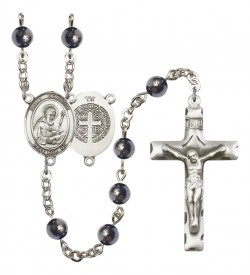 Men's St. Benedict Silver Plated Rosary [RBENM8008]