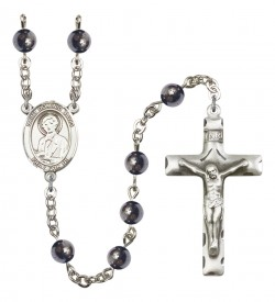 Men's St. Dominic Savio Silver Plated Rosary [RBENM8227]