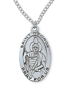 Men's St. George Medal Sterling Silver [MVM1068]