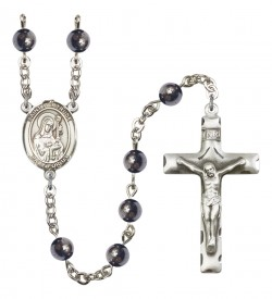 Men's St. Gertrude of Nivelles Silver Plated Rosary [RBENM8219]
