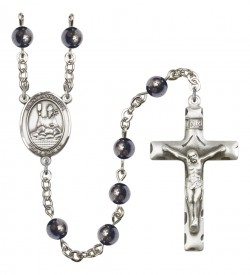 Men's St. Honorius of Amiens Silver Plated Rosary [RBENM8376]