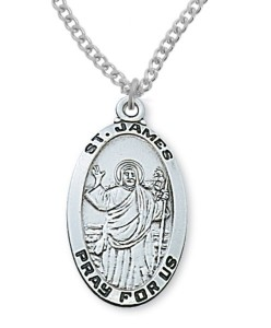 Men's St. James Medal Sterling Silver [MVM1071]