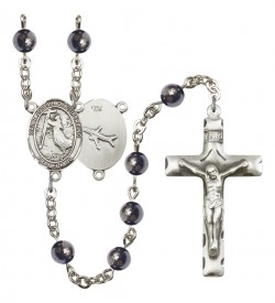 Men's St. Joseph of Cupertino Silver Plated Rosary [RBENM8057]