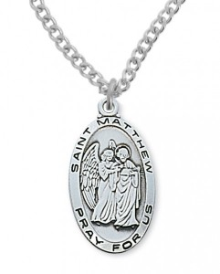 Men's St. Matthew Medal Sterling Silver [MVM1076]