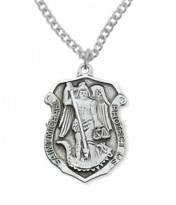 View all saint michael medal with necklace catholic faith store mens st michael protect us medal cm0801 aloadofball Images