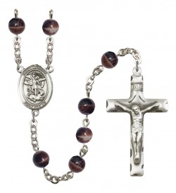 Men's St. Michael the Archangel Silver Plated Rosary [RBENM8076]