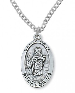 Men's St. Paul Medal Sterling Silver [MVM1080]