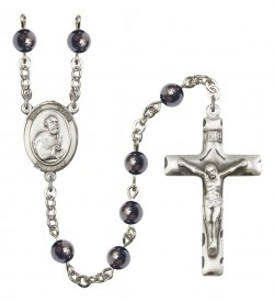 Men's St. Peter the Apostle Silver Plated Rosary [RBENM8090]