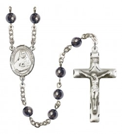 Men's St. Rose Philippine Duchesne Silver Plated Rosary [RBENM8371]