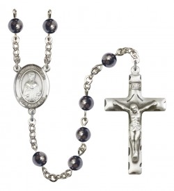 Men's St. Winifred of Wales Silver Plated Rosary [RBENM8419]