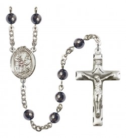 Men's St. Zita Silver Plated Rosary [RBENM8244]