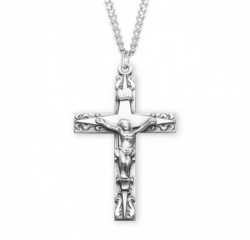 Men's Star on Cross Crucifix Necklace [HMM3285]