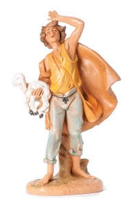 "Michah with Lamb Nativity Statue - 12"" scale [RMCH023]"
