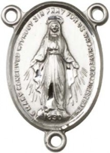 Simple Miraculous Medal Rosary Centerpiece [BLCR0101]