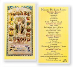 Misterios Del Santo Rosario Laminated Spanish Prayer Cards 25 Pack [HPRS212]