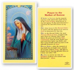 Mother of Sorrow Laminated Prayer Cards 25 Pack [HPR235]