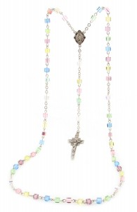 Multi Color Swarovski Crystal Sterling Silver Rosary [HMBR034]