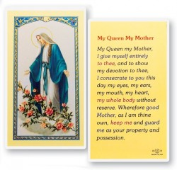 My Queen My Mother Our Lady of Grace Laminated Prayer Cards 25 Pack [HPR283]