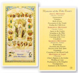 Mysteries of The Rosary Laminated Prayer Cards 25 Pack [HPR212]