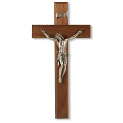 Natural Cherry Wall Crucifix - 11 inch [CRX4207]