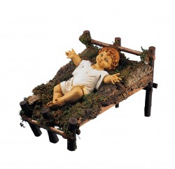 Natural Wood Cradle for 50 inch Infant Jesus [RM0187]