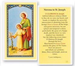 Novena To St. Joseph Laminated Prayer Cards 25 Pack [HPR639]