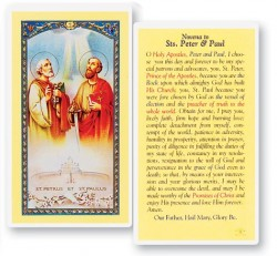 Novena To Sts Peter and Paul Laminated Prayer Cards 25 Pack [HPR511]