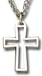 Open Cross Pendant with Chain [TCG0334]