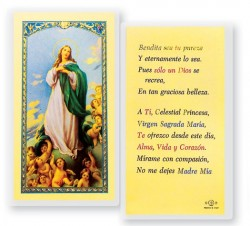 Oracion A La Virgen Maria Laminated Spanish Prayer Cards 25 Pack [HPRS251]