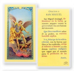 Oracion A San Miguel Laminated Spanish Prayer Cards 25 Pack [HPRS330]