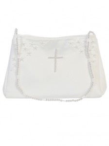 Satin First Communion Purse with Cross [TTP005]