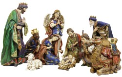 Ornate Resin Nativity Set - 19 inch [RM0317]