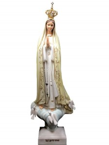 Our Lady of Fatima Hand-painted Statue with Crown Jewels 28 Inch [VIC1103]