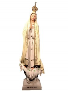 Our Lady of Fatima Statue Hand-Painted 45 Inches [VIC1109]