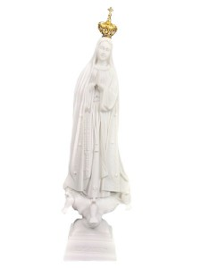 Our Lady of Fatima White Marble Composit 11.5 Inch [VIC1106]