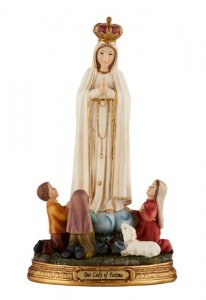 Our Lady of Fatima w Children 8 Inches High Statue [CBST005]