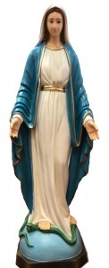 Our Lady of Grace Dark Blue Robe Statue 45 Inch [VIC0489]