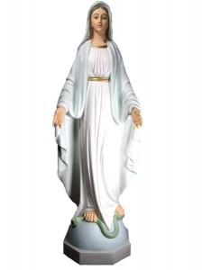 Our Lady of Grace Hand-painted Statue 45 Inch [VIC1101]
